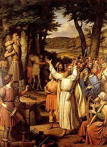 Celebración de un blót por un gody (sacerdote)